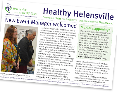 Helensville District Health Trust Newsletter
